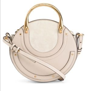 Chloe Small Pixie Round Bag in Abstract White NWT